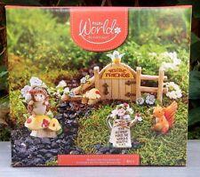 Miniature Dollhouse FAIRY GARDEN ~ 4 Piece FRIENDSHIP Figurine Starter Gift Set