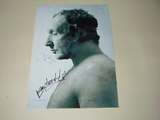 """SAW V CAST X2 PP SIGNED POSTER 12""""X8"""" T. BELL & BENZ"""