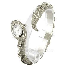 Fashion Silver Snake Steel Bracelet Bangle Women Lady Quartz Wrist Watch B6696