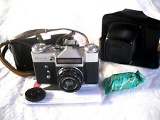 Vintage 1976 'ZENIT E' SLR 35mm Camera USSR,Original Leather Case + Film,V.G.C