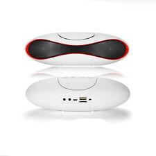 Portable For Smartphone FM Speaker White Wireless Bluetooth Stereo Tablet Laptop