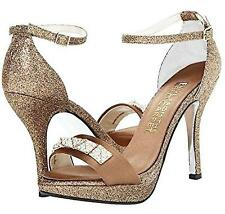E! LIVE FROM THE RED CARPET ~ $189 OLIVIA GOLD PLATFORM SHOES HEELS SIZE 8.5 NIB
