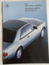Mercedes 230CE & 300CE Coupe range brochure Aug 1987 French text