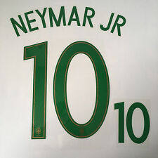 BRAZIL NEYMAR JR FOOTBALL SHIRT NAME NUMBER PRINT SET HEAT TRANSFER 2016 EURO