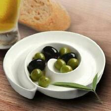PORCELAIN OLIVE DISH PLATE BOWL CANAPE OIL AND BALSAMIC VINEGAR ANTIPASTI TAPAS
