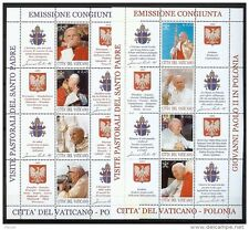 VATICAN**POPE JOHN PAUL to POLAND/POLSKA-2 SHEETS@5stamps-2004-Religion-Pabst