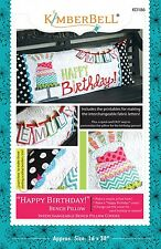 Happy Birthday ~ KimberBell Bench Pillow of Month Quilt Pattern ~ cake name