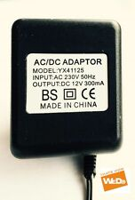 AC/DC ADAPTER YX41125 12V 300mA UK PLUG