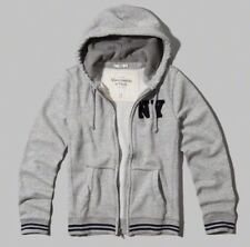 Abercrombie and Fitch Men's Zip Hoodie, Heather Grey, Size Small