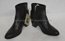 NIB Frye Janis Shield Pull-On Short Booties Black Leather US Women's Size 9 M