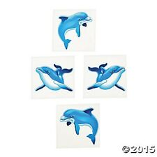 72 Dolphin Ocean Theme Luau Temporary Tattoos Kids Birthday Party Favors Gifts