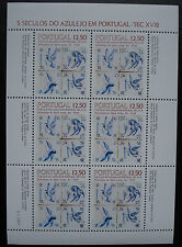 "1983: Sheet piccoli archi vel Block ""azulejos"" Michel-N. 1603 post FRESCHI MNH **"