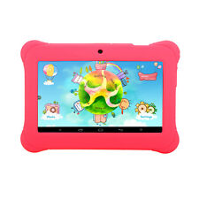 "iRULU New 7"" Pink Quad Core Kid-proof Learning Android 8GB Tablet PC for Kids"
