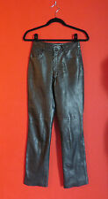 Joseph Women Pants Leather Soft Dres Motorcyc Black Jeans, Sz. 0/2.