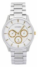 Citizen Analogue Dress Mens QUARTZ Watch White Dial  AG8351-51B