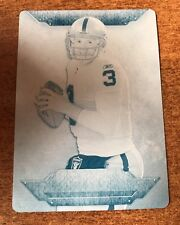 2012 Topps Triple Threads CARSON PALMER CYAN Printing Plate 1/1 1 Of 1