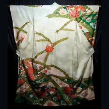 """Arches"" Vintage Japanese Woman's Furisode Kimono Robe Traditional Collectible"