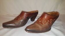 Charlie 1 Horse Lucchese Boots Mules Clogs Leather Size 7.5B Cowboy Western