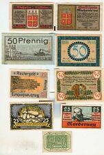 Notgeld:Norderney,Nesselwang,Neustadt a.S,Neuhaldensleben,Neubrandenburg,Nieheim