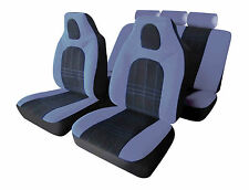 FIAT STILO Universal D-ZINE Hi-Back Car Seat Covers in Grey & Black