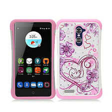 For ZTE ZMAX PRO HYBRID IMPACT Dazzling Diamond Case Phone Cover Accessory