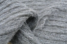 D92 BOILED FELTED WOOL-MOHAIR BLEND DARK GREY'S WITH BLACK STRIPE SOFT KNIT