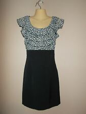 By & By Womens Size S High Waisted Form Fitted Sleeveless Dress Ruffle Front