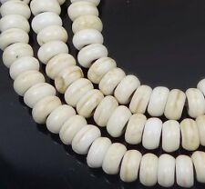 4x2mm off White Turquoise Rondelle Beads 16""