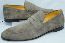 Canali Mens Shoes Ibiza Stone Loafers Drivers Size 43.5 Suede Slip Ons NIB