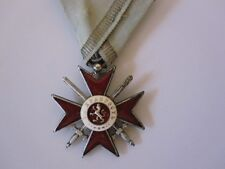 Bulgarian WWI Order for Bravery - 4th Class 2nd Grade Silver with Ribbon