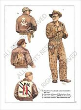 PLANCHE UNIFORMS PRINT WWII United States Air US Force USAF Pilot Commando Asia