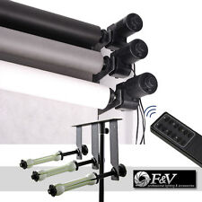 3-ROLLER ELECTRIC-MOTORIZED PHOTOGRAPHIC BACKDROP BACKGROUND SUPPORT SYSTEM