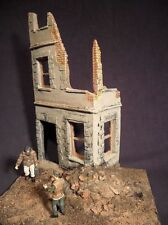 1/35 Scale WW2 Caen Ruined house model kit. Military diorama accessory