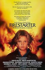 Firestarter movie poster - Drew Barrymore, Stephen King - 11 x 17 inches