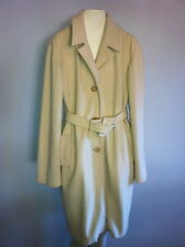 Jil Sander pale yellow wool and cashmere blend belted coat