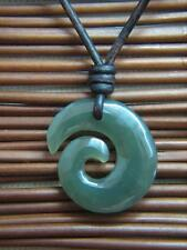 BC  Jade Maori Koru Surfer Surf Tribal Necklace