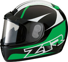 Z1R PHANTOM SNOWMOBILE SNOW HELMET FULL FACE ANTI-FOG SHIELD GREEN LARGE L
