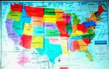 """United States US Wall Map - 40"""" x 28"""" USA Poster Size - Home School Office"""