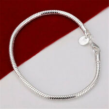 Xmas New wholesale fashion jewelry 925 Silver beautiful Chains Bracelet bangle
