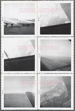 Lot of 15 Vintage Photos Trans Texas Airlines Airplane Window Views 699637
