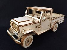 Laser Cut Wooden Toyota Landcruiser 3D Model/Puzzle Kit
