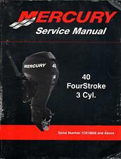 2010 MERCURY OUTBOARD 40 FourStroke 3 Cyl. P/N 90-899974 SERVICE MANUAL (432)