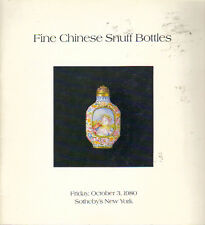 RARE - SOTHEBY'S CHINESE SNUFF BOTTLES Auction Catalog 1980