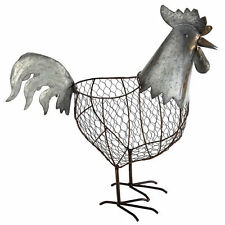 """Metal Wire Rooster Basket 18""""x7""""x18"""" - 37541"""