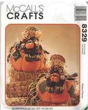 UNCUT McCalls SEWING Pattern Harvest Pumpkin Scarecrow OOP SEW 8329 Halloween FF