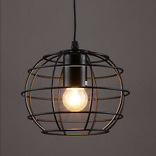 Retro Industrial Rustic Metal Pendant Ceiling Cafe Ball Cage Bar Hanging Light