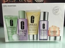 Clinique Daily Essentials 5 piece Set, Dramatically Moisturizer, Facial Soap etc