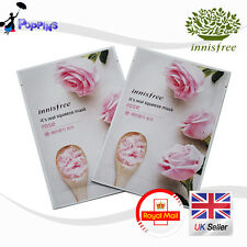2 X New Innisfree Its Real Squeeze Series Sheet Mask Rose (20ml x 2)