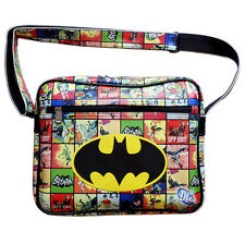DC Comics Batman series Logo Multi-Color Leather Sports Messenger Shoulder Bag