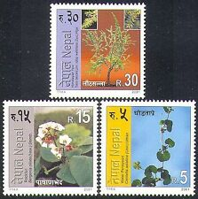 Nepal 2001 Plants/Flowers/Trees/Nature/Herbs/Medicinal 3v set (n37177)